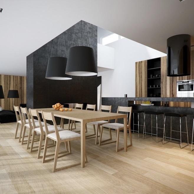 Modern minimalist black and white lofts 10