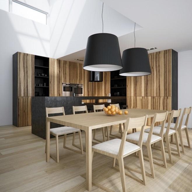 Modern minimalist black and white lofts 11