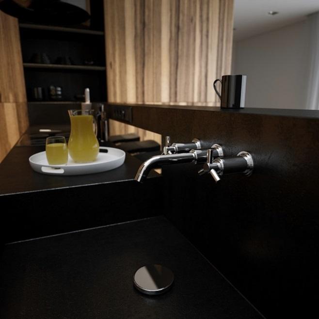 Modern minimalist black and white lofts 14
