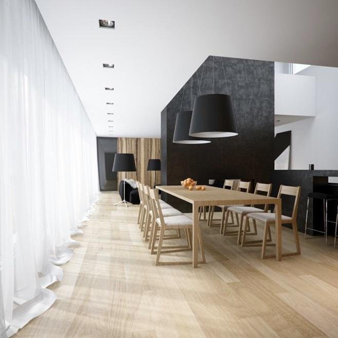 Modern minimalist black and white lofts 15