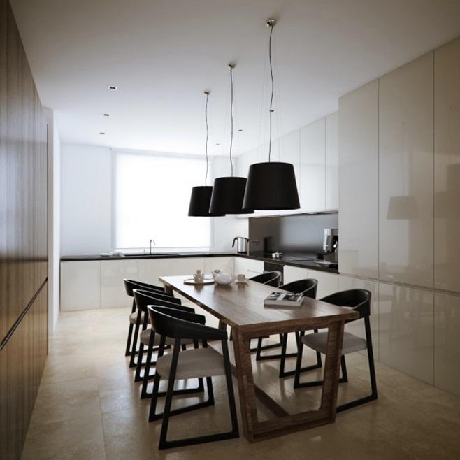 Modern minimalist black and white lofts 20