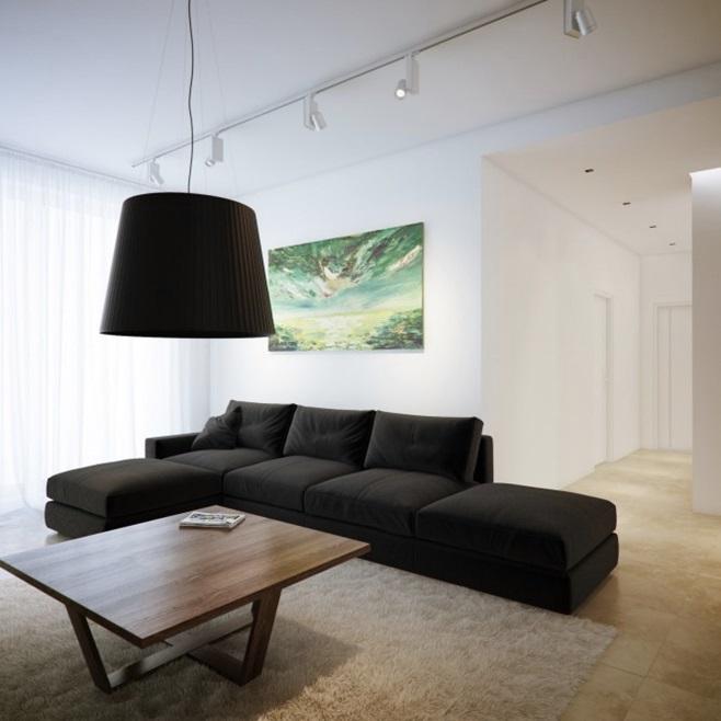 Modern minimalist black and white lofts 22
