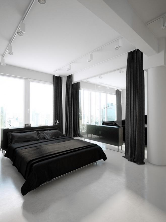 Modern minimalist black and white lofts 6