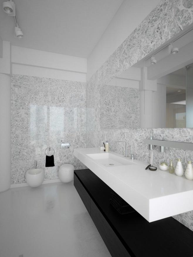 Modern minimalist black and white lofts 8