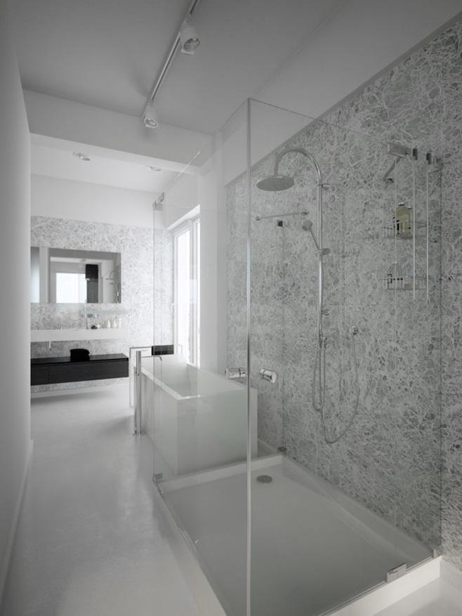 Modern minimalist black and white lofts 9