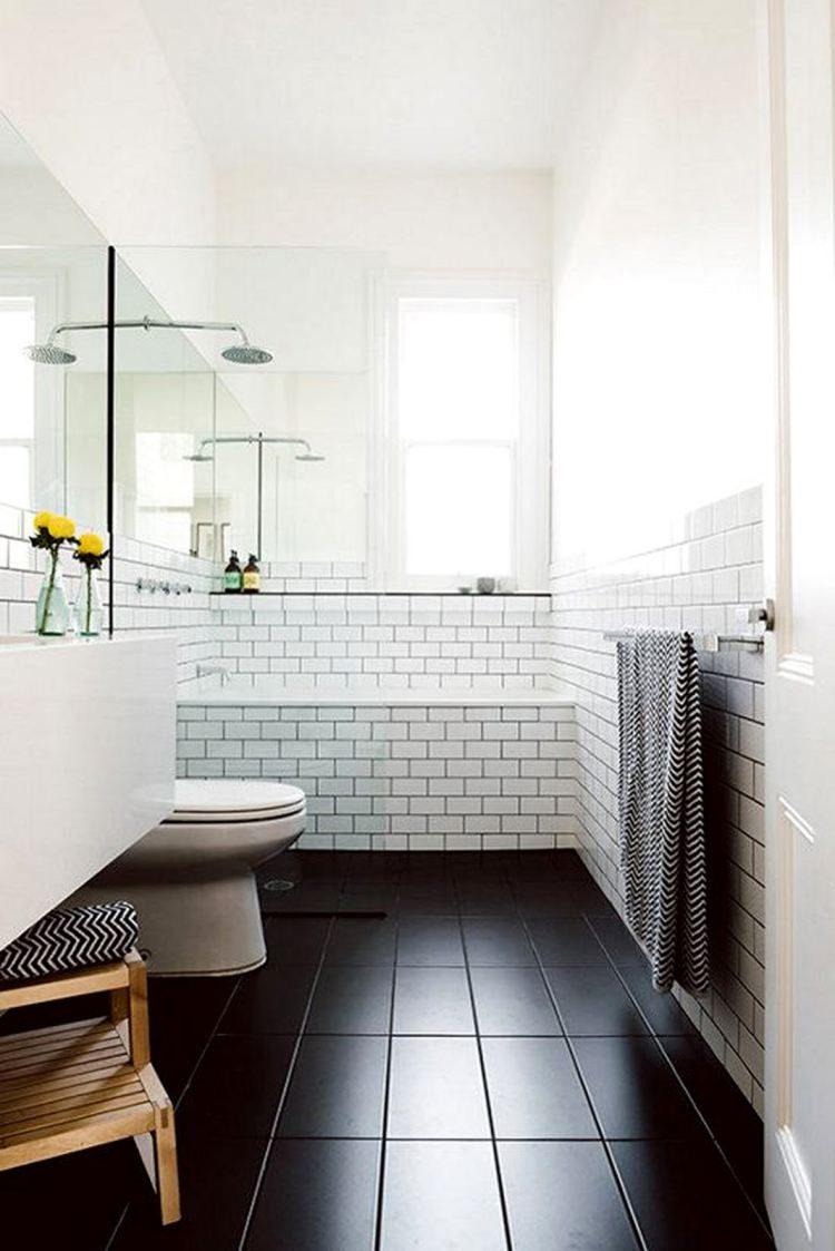 Black slate bathroom floor - Black Slate Bathroom Floor Tiles